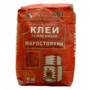 Терракот клей жаростойкий усиленный 10 кг