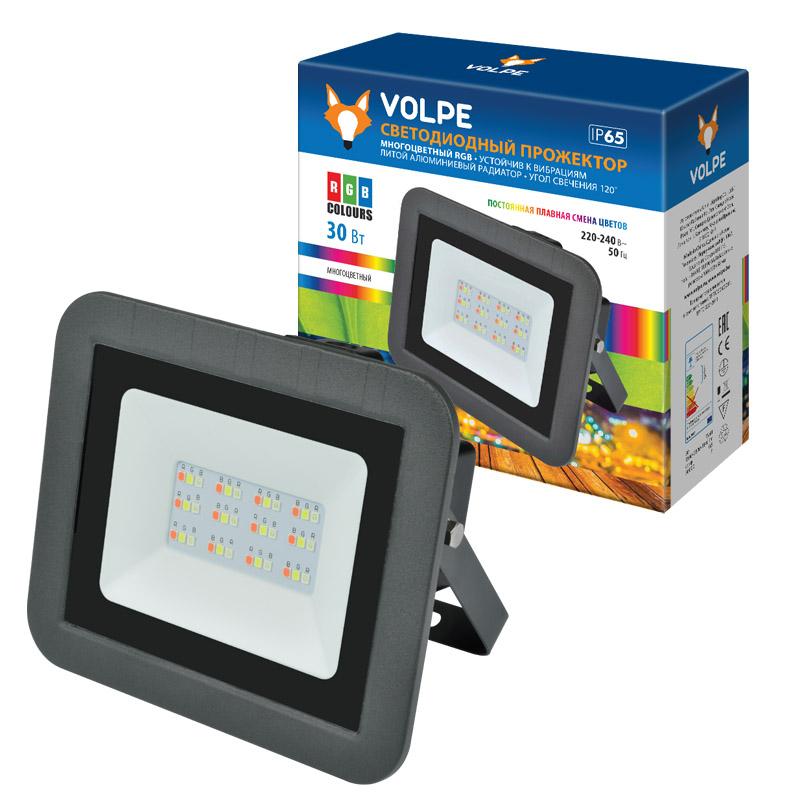 Прожектор светодиодный ULF-Q511 30W/RGB IP65 220-240В BLACK