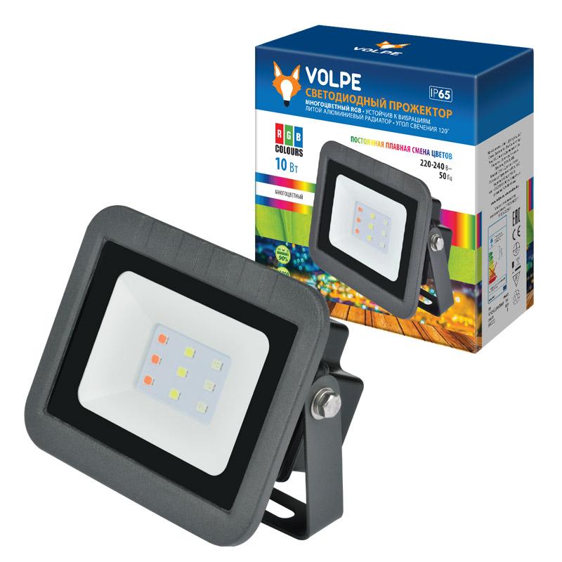 Прожектор светодиодный ULF-Q511 10W/RGB IP65 220-240В BLACK