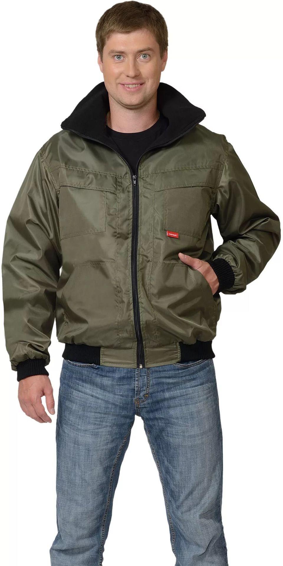 """Куртка """"Пикник""""на флисе(зелёная)"""