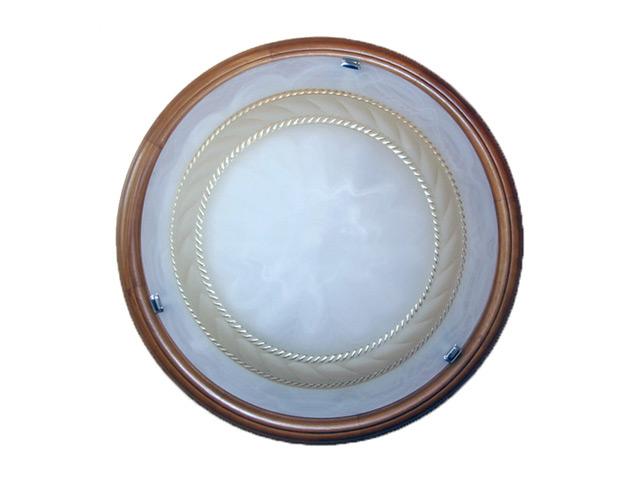 """Светильник настенный """"BSW 2201/30"""", дуб, белое стекло с кор.декором, 365 мм,"""