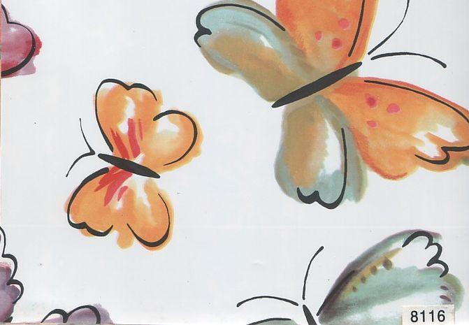 Пленка с/к 0,45*8м арт 8116 D&B Бабочки