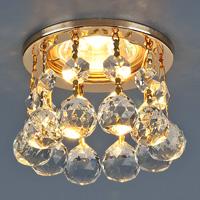 Светильник точечный 2051-С (FGD/Clear)золото/прозр/хруст