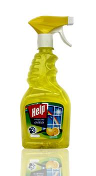 Средство для стекол курок HELP Лимон(750мл) (55р.)