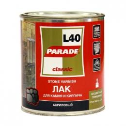 Лак для камня PARADE акриловый на растворит.глянец 0,75л L40