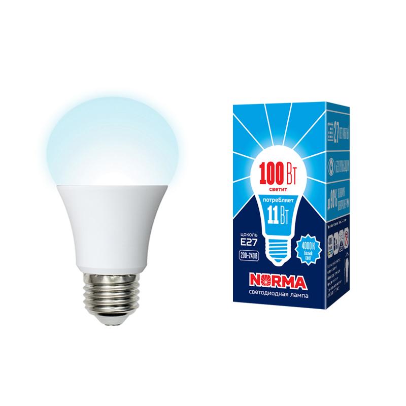 Лампа светодиодная А60-11W/NW/4000/Е27/FR/NR
