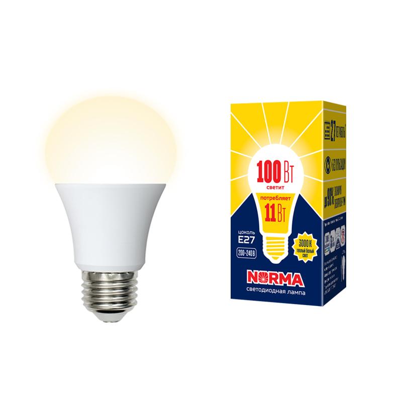 Лампа светодиодная А60-11W/WW/3000/Е27/FR/NR