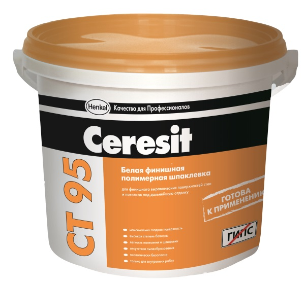 Шпатлевка готовая полимерная Церезит СТ 95 5кг