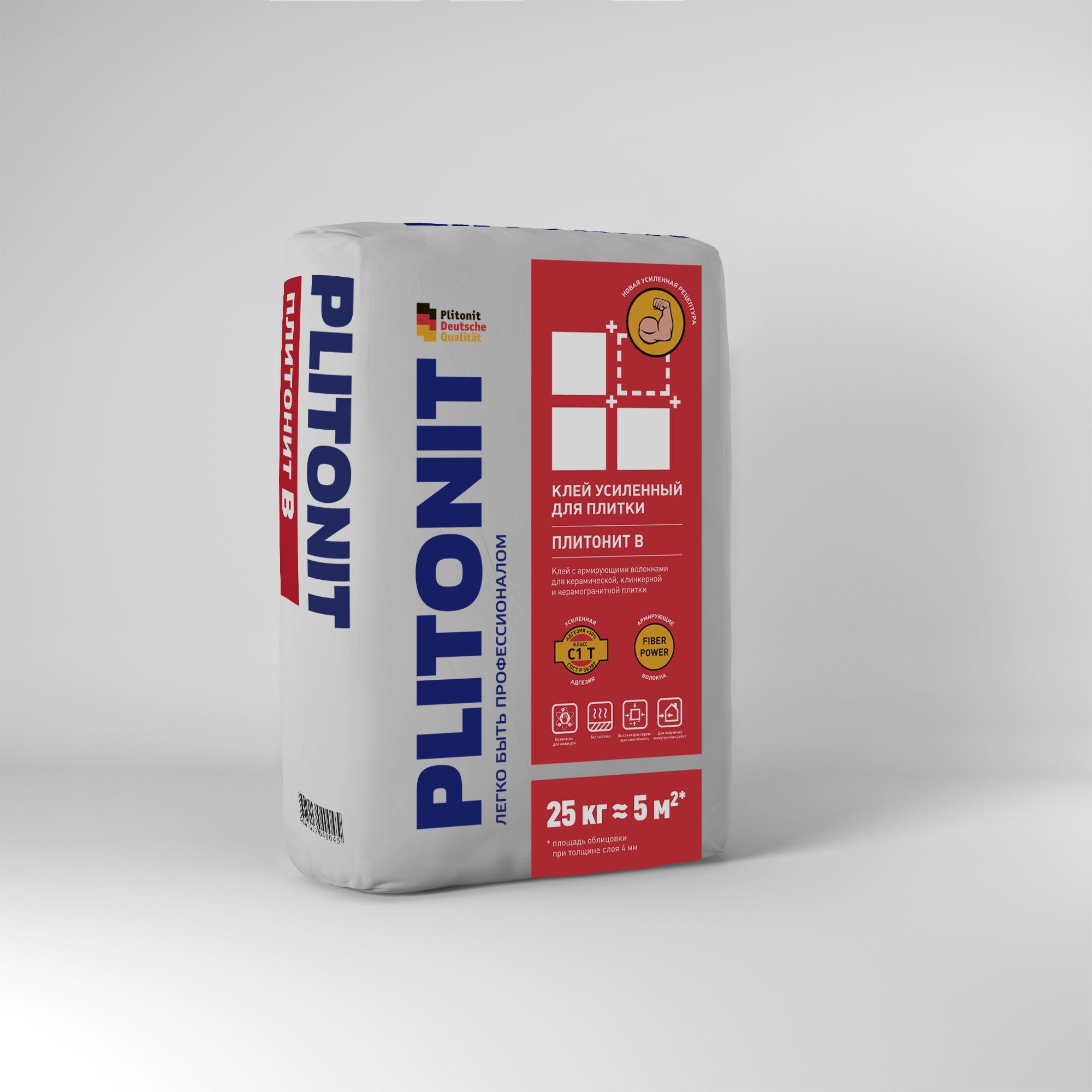 Клей для плитки Плитонит В-25 25 кг