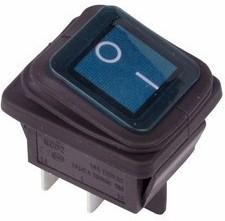 Выключатель клавишный ON - OFF синий РЕКСАНТ 36-2361