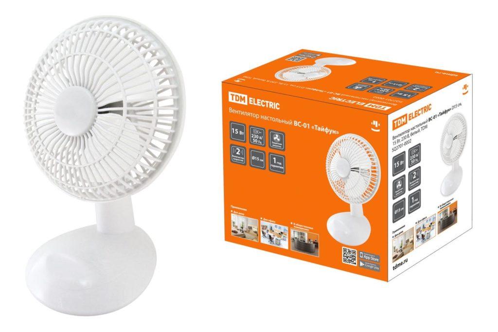 Вентилятор настольный Тайфун ВС-01,2701-0002