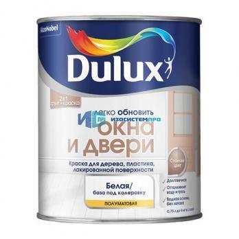 Эмаль DULUX акрил окна и двери 0,75л белая BW
