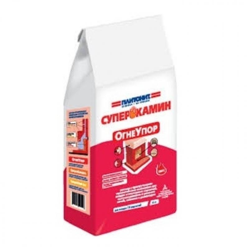 ПЛИТОНИТ Огнеупор - 4.0 кг раствор для кладки огнеупорных кирпичей