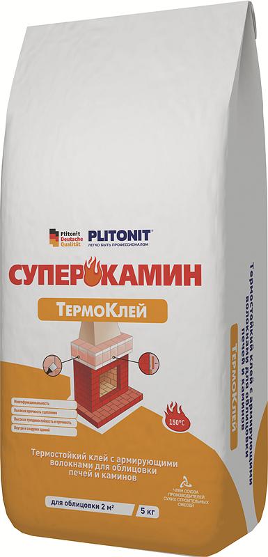 ПЛИТОНИТ ТермоКлей - 5 кг для облицовки печей и каминов