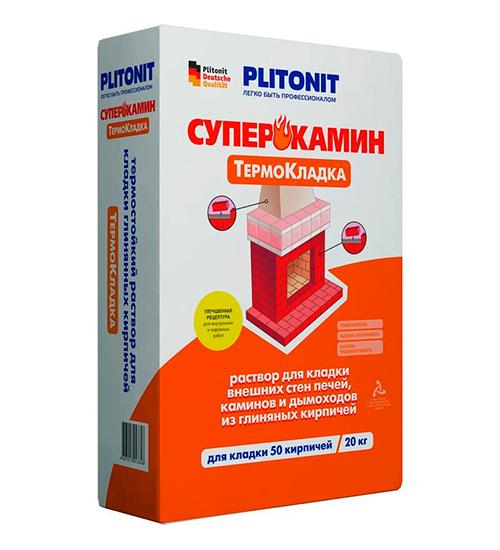 ПЛИТОНИТ ТермоКладка - 20 кг раствор для кладки печей и каминов