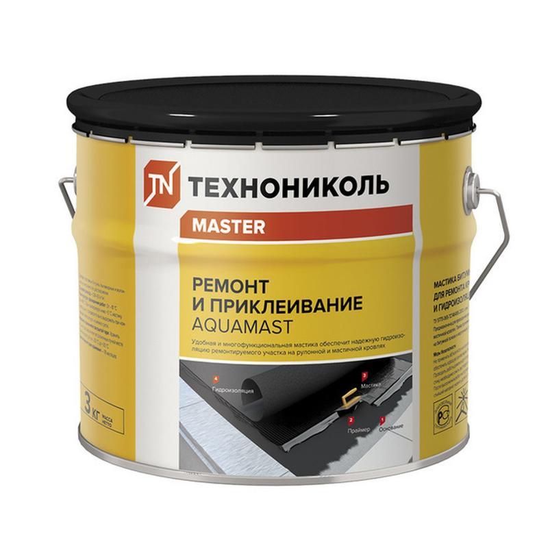 Мастика битумная Технониколь AguaMast 3кг ремонт и приклеивание