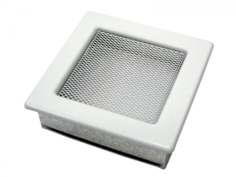 Решетка вент. для камина 170х170 мм белая