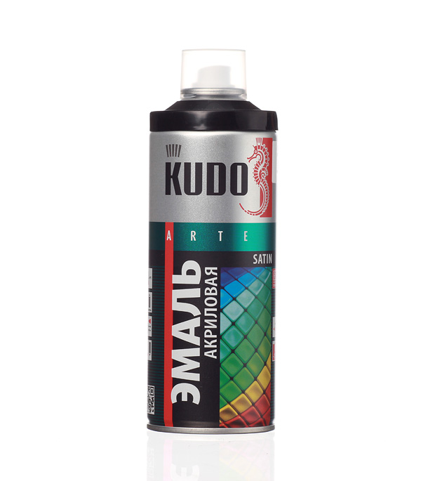 Краска аэрозоль KUDO 520мл сатин черная RAL 9005