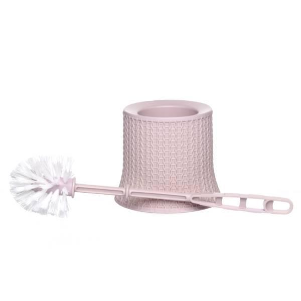 Комплект для туалета ВЯЗАНИЕ чайная роза ротанг