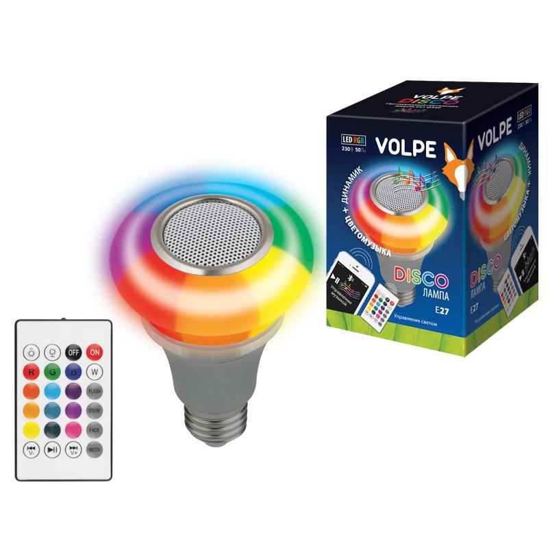 Светильник светодиодный ULI-Q340 5W/RGB/E27 SILVER