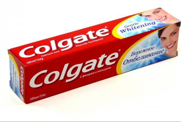 Зубная паста Колгейт 100 мл Бережное отбеливание