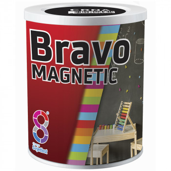 Краска магнитная BRAVO MAGNETIK 0,5л Чёрный