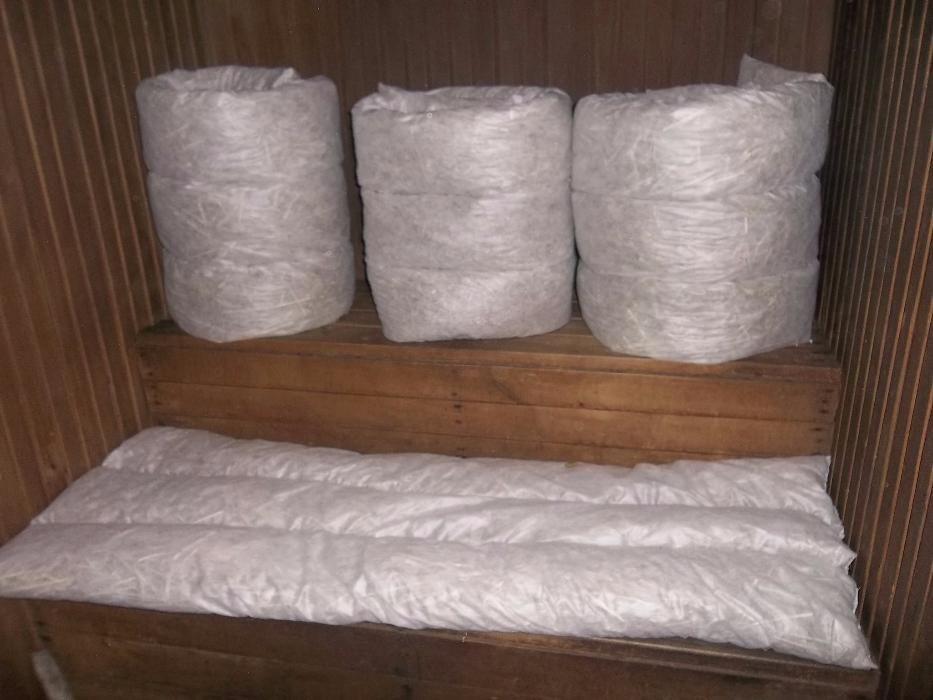 Матрас для бани из лугового сена  700*2000*80.