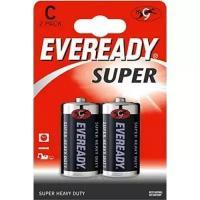 Батарейка солевая*24 EVR SUPER R14 C 2шт/бл