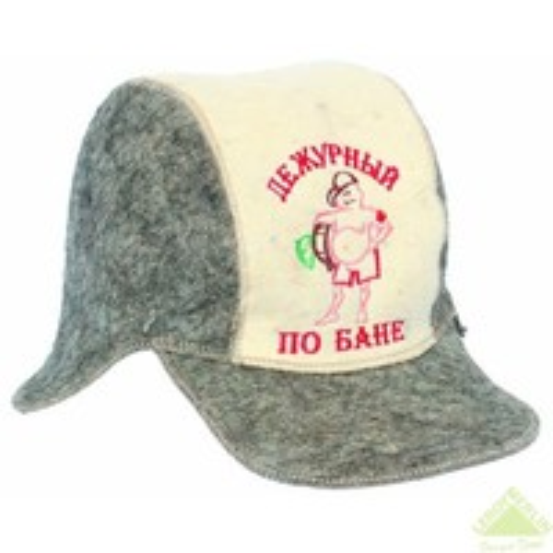 "Шляпа д/сауны""Бейсболка"" с вышивкой"