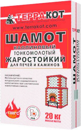 Терракот смесь Шамот жаростойкий 20 кг