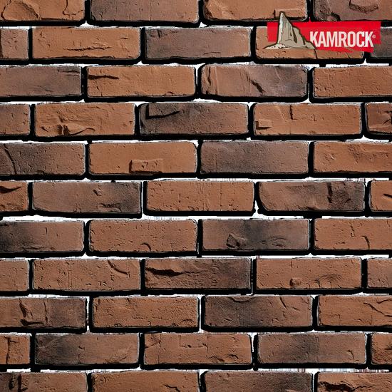 Декор камень Kamrock Клинкерный кирпич