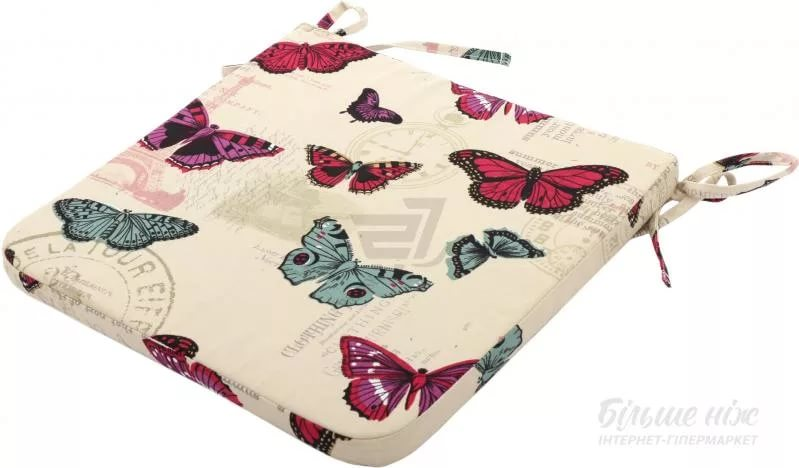 "Подушка на стул цветная""Бабочки"" 40*40см"