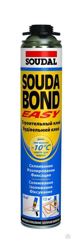 Клей для пенополистирола полиуретан Соудал Проф Soudabond EASY 750мл