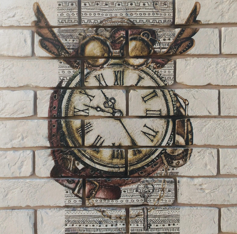 """Декор камень """"Zikkurat """" Часы """" 60х60"""