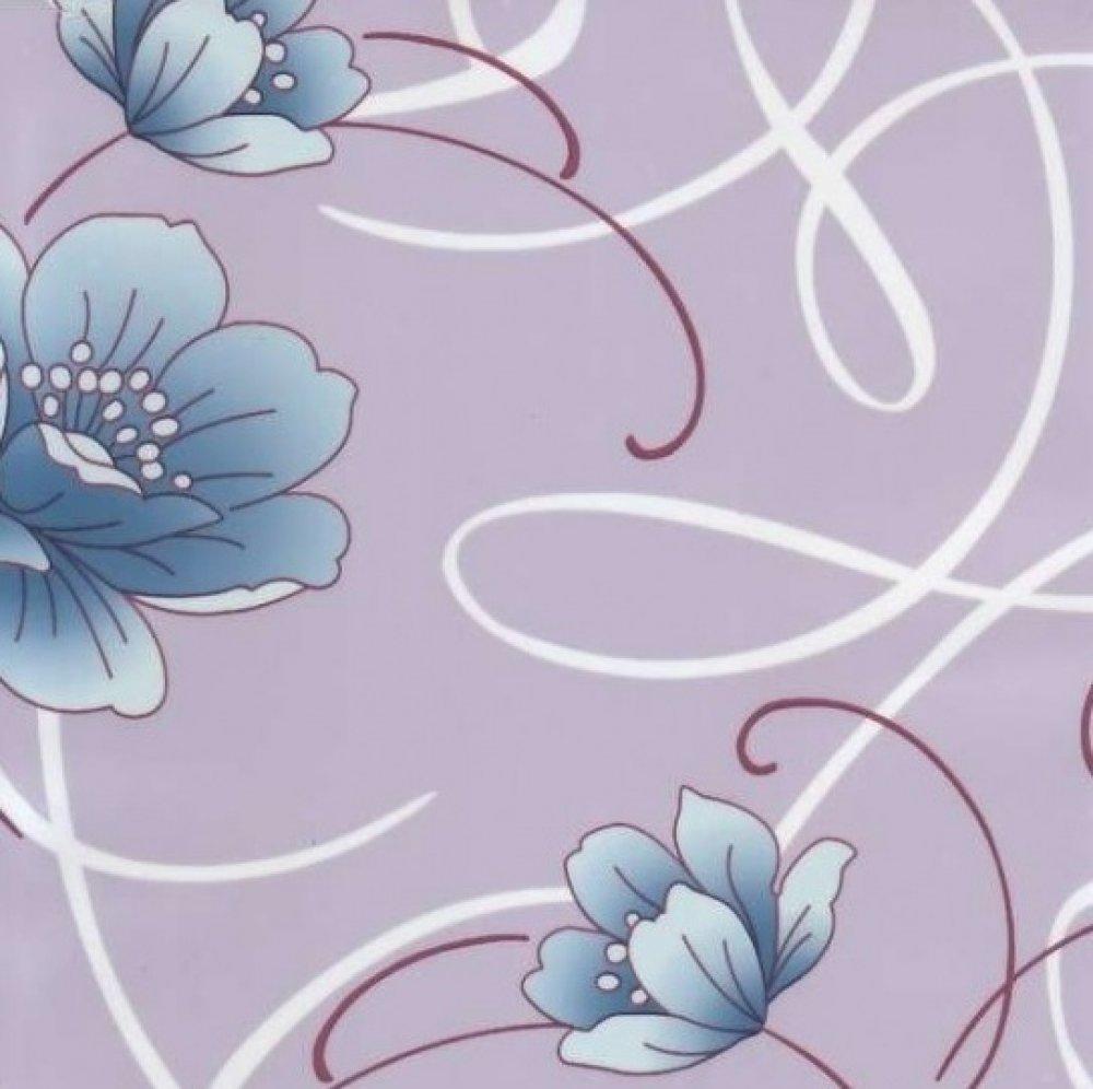 Пленка с/к 0,45м*8м  D&B (цветы на фиол.фоне) арт 8251