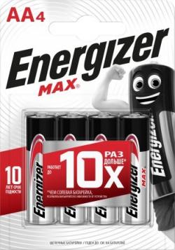 Батарейка щелочные*12 ENR MAX E91/AA 4шт