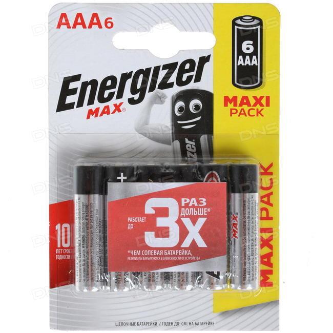 Батарейка щелочные*12 ENR MAX E92/AAА 6шт