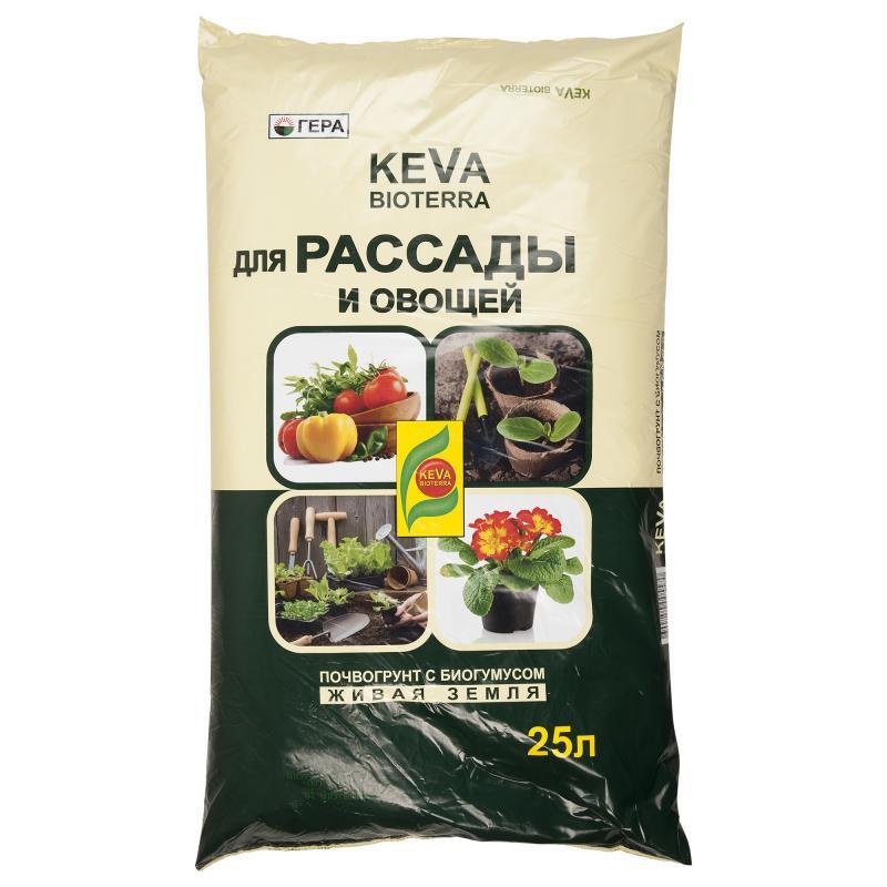 Грунт KEVA BIOTERRA рассады и овощей 20л
