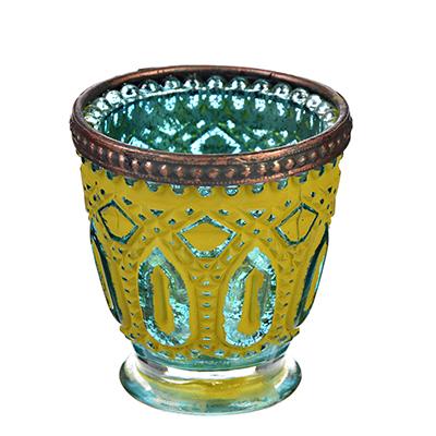 Подсвечник Марокко 7*7*7,5 см металл+стекло