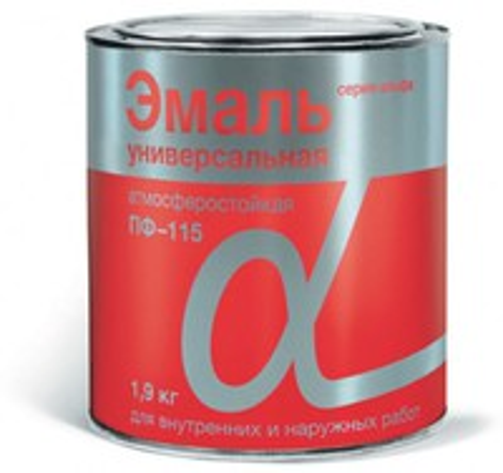 """Эмаль ПФ-115 """"Альфа"""" Белая глянцевая 1,9 кг"""