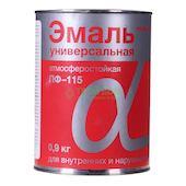 """Эмаль ПФ-115 """"Альфа"""" красная 0,9 кг"""