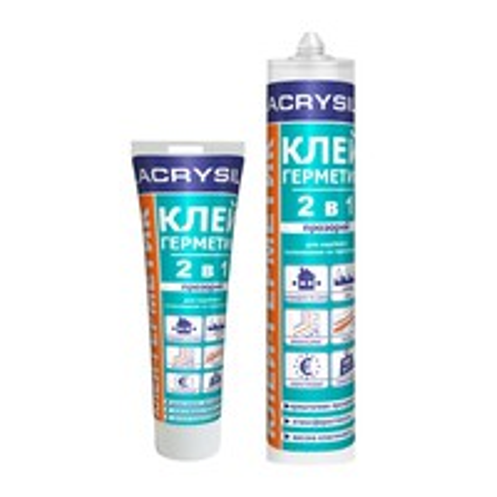Клей-герметик 2в1 акриловый Lacrysil 150г