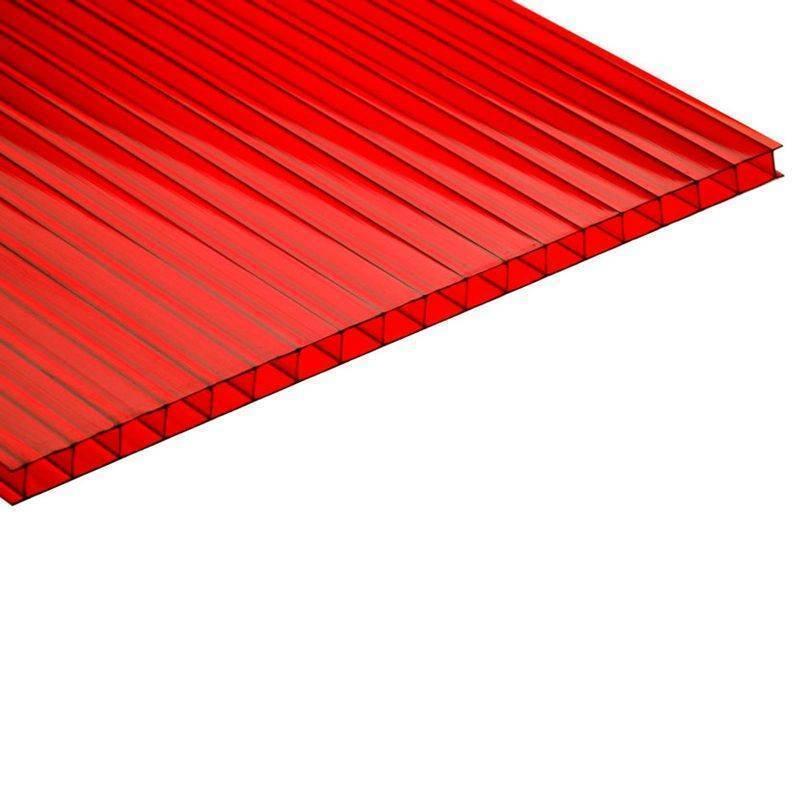 Поликарбонат 10мм красный