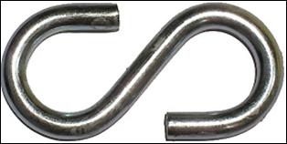 Крюк S-образный М6 (1шт)