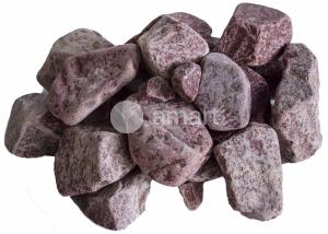 Камни для бани Кварцит Малиновый (Парфир) 20кг обвалован.