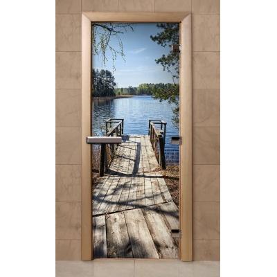 Дверь банная стекло DoorWood с фотопечатью А003 190*70см
