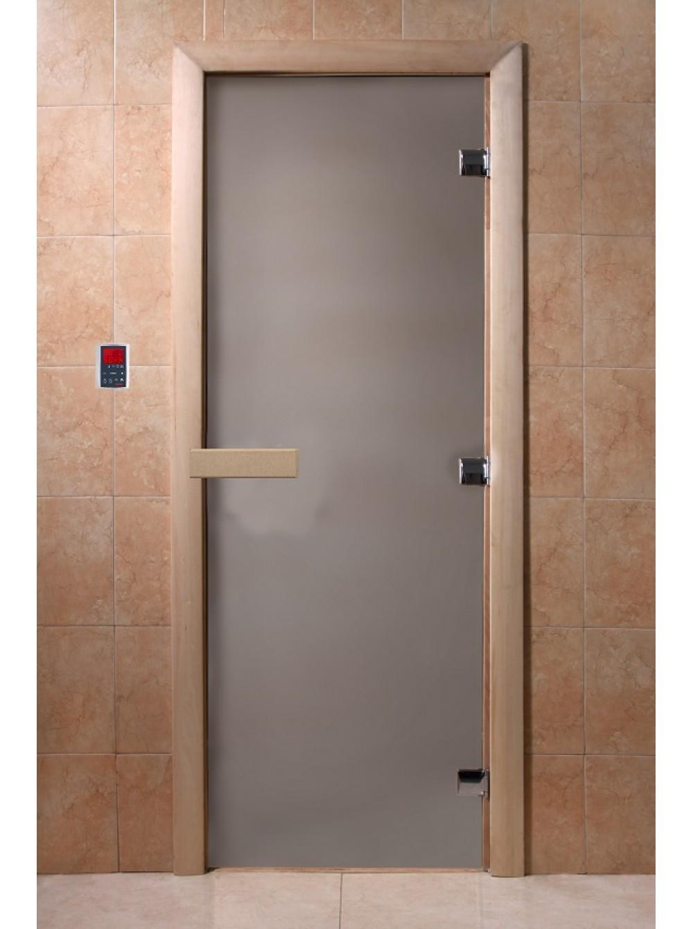 Дверь банная стекло DoorWood сатин 1900х700х8мм (Теплое утро)