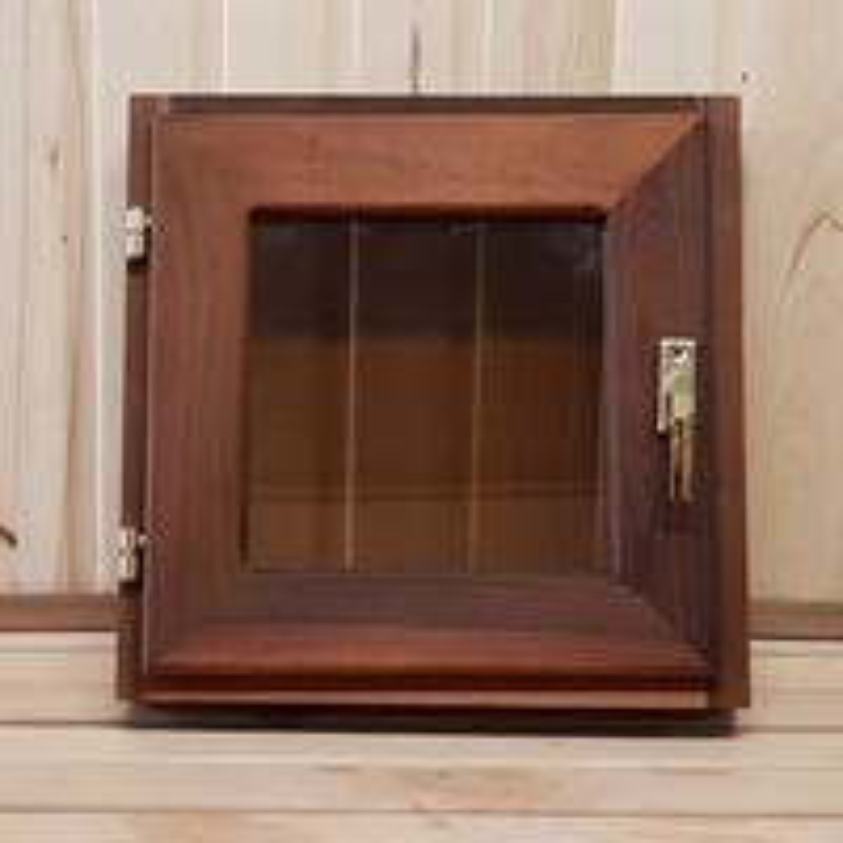 Окно для бани 30х30см термолипа,стеклопакет,стекло