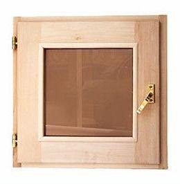 Окно для бани 60х60см липа стеклопакет
