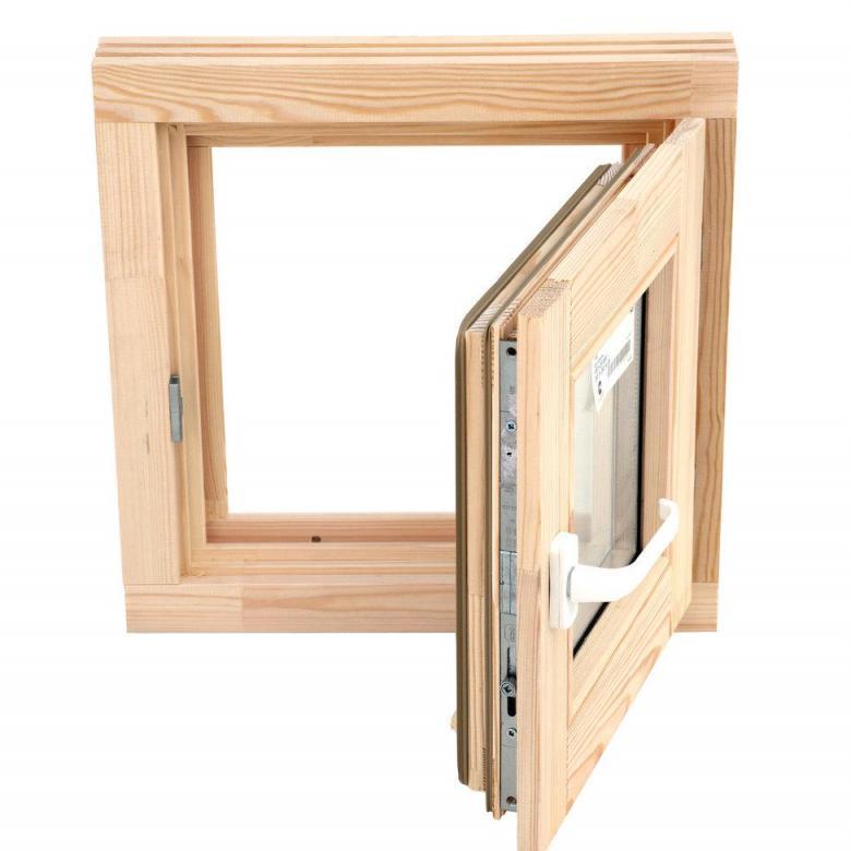Окно для бани 50х50см липа стеклопакет